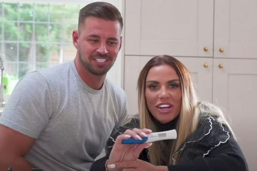 Katie Price films herself taking pregnancy test amid reports she's expecting