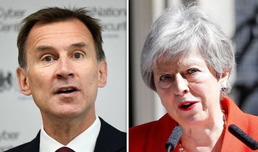 AND THEY'RE OFF! Jeremy Hunt becomes FIRST Cabinet minister to declare bid to replace May