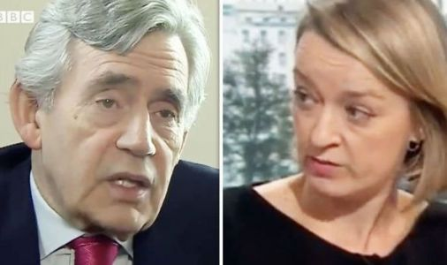 BBC's Laura Kuenssberg stunned by Gordon Brown as he warns of 'END of UK'
