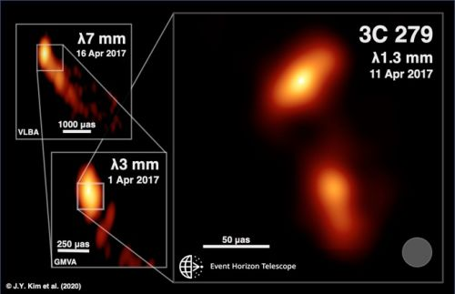 Event Horizon Telescope reveals inner workings of quasar's jet