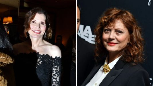 Susan Sarandon is businesswoman chic as she reunites with Geena Davis for Thelma & Louise