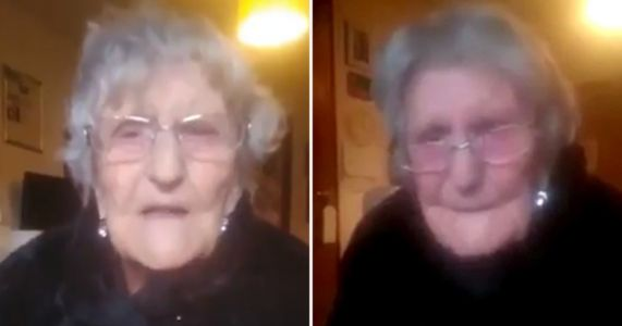Care home resident, 104, fights back tears as she begs to see family again