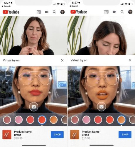 You'll soon be able to try make-up virtually via YouTube tutorials