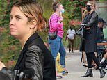Ashley Benson keeps it chic in head-to-toe black ensemble as she grabs lunch with a friend in LA