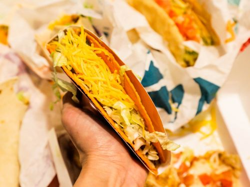 Taco Bell is giving away free Doritos Locos Tacos at its drive-thrus, and you don't even have to make a purchase to get them