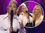 Miley Cyrus gives a shoutout to her godmother Dolly Parton with her mom Tish on SNL