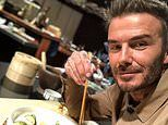 David Beckham demonstrates his culinary skills as he makes dumplings to celebrate Chinese New Year