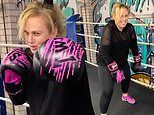 Rebel Wilson shows off slim figure while boxing at the gym after losing 18kg