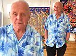 Anthony Hopkins, 82, showcases his artwork and gives an update during self-quarantine