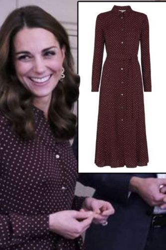 Kate Middleton wears high street John Lewis dress for unannounced engagement with husband Prince William