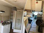 Double bedroom flat with a shower in the KITCHEN for £1,000 a month