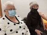 Gogglebox duo Mary and Marina receive the COVID-19 vaccine at the same time