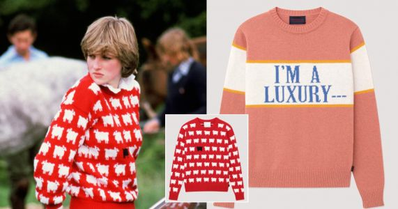 Princess Diana's iconic sheep jumper is being re-released in time for sweater weather