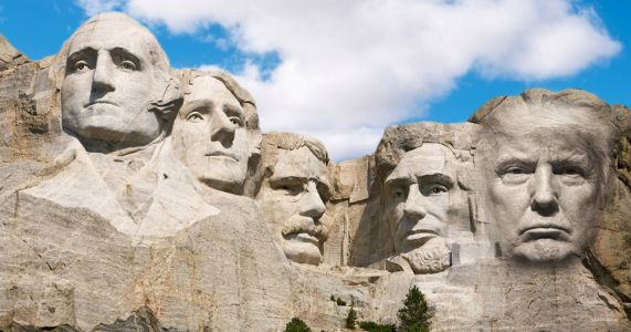 Donald Trump says it's a 'good idea' to put his face on Mount Rushmore
