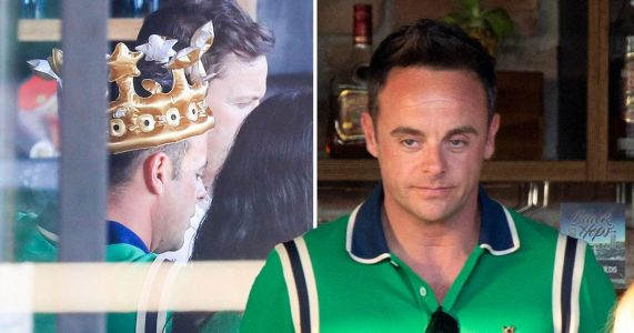 Ant McPartlin is king of the world as he sports gold crown to celebrate 44th birthday in Australia