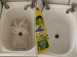 Aldi Australia $2.50 cleaning product that transformed sinkfrom stained to sparkling white