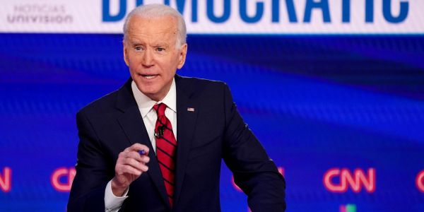 Joe Biden slams Trump for suggesting George Floyd is 'looking down' from heaven and celebrating 'a great day'