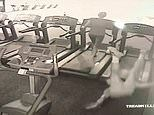 Gymgoer takes an embarrassing tumble off treadmill as he tries to impress girlfriend