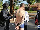 Tattooed man from Newcastle NSW arrested in his undies regarding attempted murder