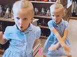 Nelly Shepherd energetically dances around on the eve of her 6th birthday party