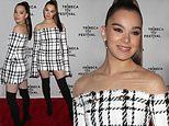 Hailee Steinfeld shows off her bodacious curves in houndstooth mini dress at the Tribeca TV Festival