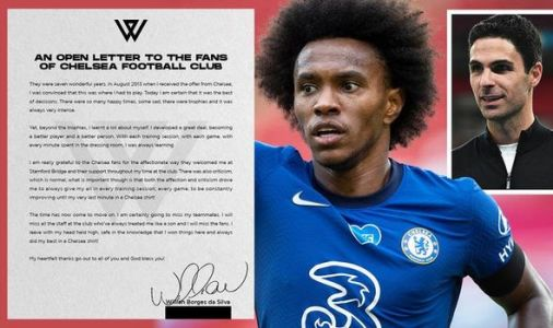 Willian to Arsenal transfer set to be announced as winger officially confirms Chelsea exit