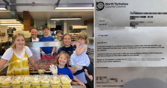 Top chef warned about child labour after kids helped him make meals for NHS