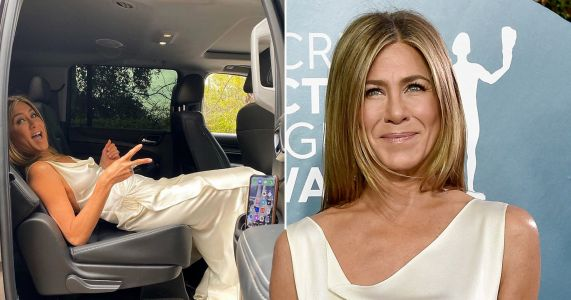 Jennifer Aniston reveals rather uncomfortable travel position to not crease SAG Awards dress after reunion with Brad Pitt