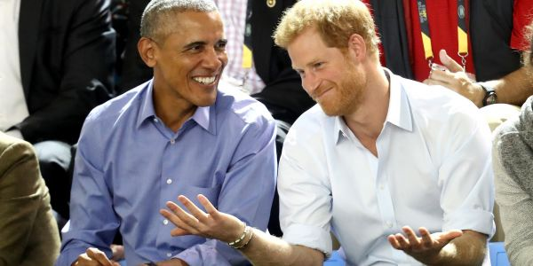 Prince Harry and Meghan Markle are reportedly getting advice on their future outside the royal family from Barack and Michelle Obama