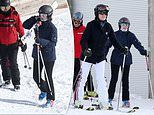 Happy Holidays! Lady Louise Windsor looks thrilled to hit the Swiss slopes