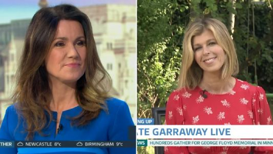 Piers Morgan and Susanna Reid support Kate Garraway as she appears on Good Morning Britain amid husband's coronavirus battle