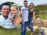 Jim Edmonds brings girlfriend Kortnie and daughter Hayley to visit the grave of his late-wife LeAnn