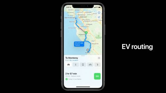 Apple Maps update in iOS 14 will reduce electric car range anxiety