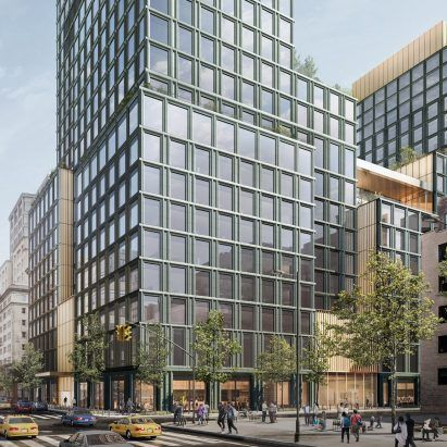 SOM to create Disney headquarters in New York City clad in green terracotta panels