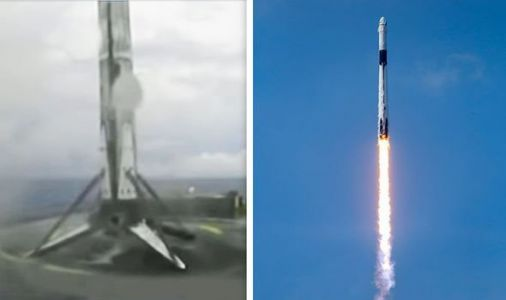 SpaceX landing: Watch the moment Falcon 9 nails a high-speed landing in the Atlantic