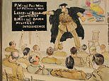 Remarkable collection of 180 cartoons drawn by hero First World War army officer