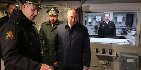 Putin says the Russian Navy's newest ship will soon carry a new hypersonic missile that may be unstoppable