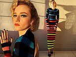 Julia Garner poses in eye-catching stripy knit dress in Instagram snaps from Critics Choice Awards