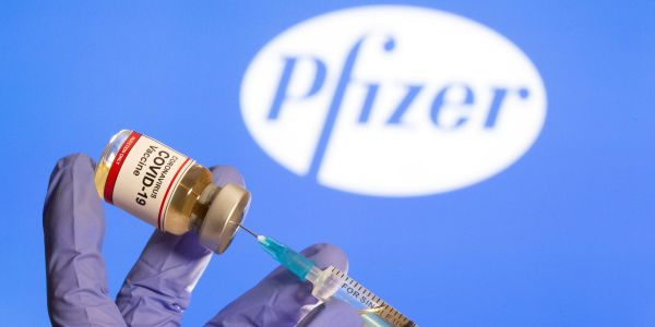 Pfizer surges 5% on emergency UK approval for COVID-19 vaccine