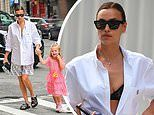 Irina Shayk holds hands with sweet daughter Lea De Seine, four, as they cross street in NYC