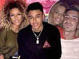Manchester United star Jesse Lingard's model ex cosies up to his football rival Jack Grealish
