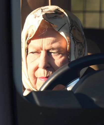 Queen is stony-faced as she's seen for first time since Harry & Meg quit