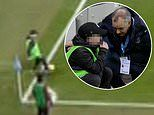 Manchester City ball boy accidentally controls the ball before it goes out in West Ham game