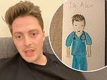 Dr Alex George is left 'sobbing' after a little girl draws a picture of him during COVID-19 crisis