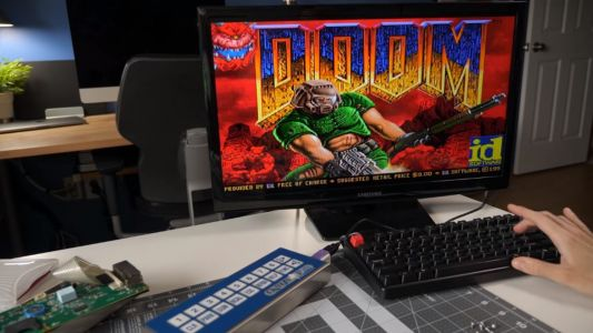 Here's Doom on a restaurant display system