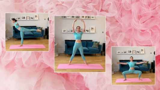 Tone up and build fitness with this ballet-inspired full-body home workout