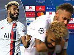 PSG striker Erik Choupo-Moting mobbed by Neymar as he reflects
