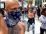 Jeremy 'Hot Felon' Meeks marches in LA as he joins nation-wide protests over killing of George Floyd