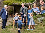 Sir David Attenborough says Prince George, Princess Charlotte and Prince Louis were 'all charming'
