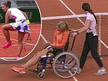 Kiki Bertens in 'fake injury' row after she's taken off court in wheelchair as Errani accuses her of lying about cramp